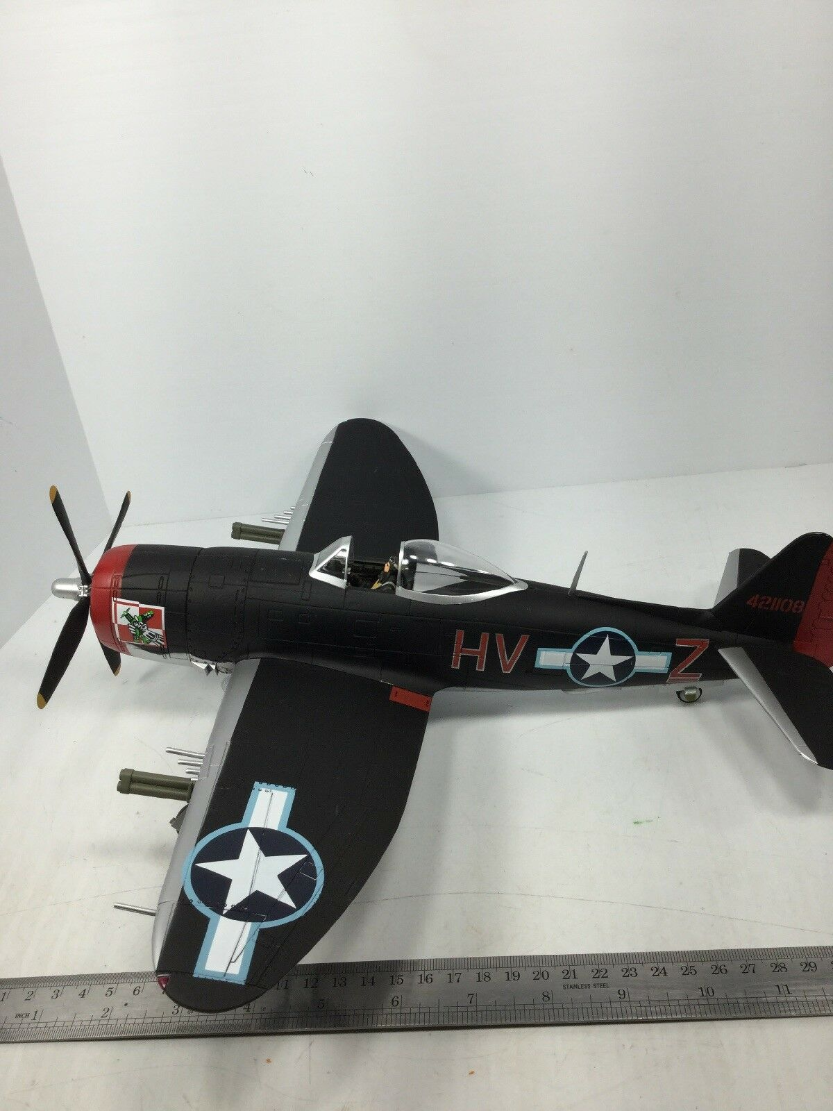 132 SCALA 21ST CENT. Ultimate Soldier United States Air Force P47 D BUBBLE Top Aereo da caccia WW2