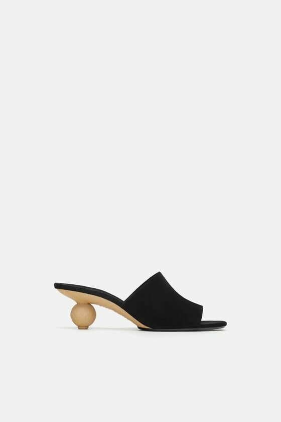 designer online Zara New Donna Leather Round Heels Mule scarpe Sandals Dimensione Dimensione Dimensione 8 REF 5315 301 NWT  senza esitazione! acquista ora!