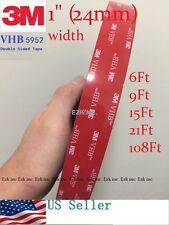 3M VHB #5952 Dual Sides Acrylic Foam Tape Automotive 1in x 6/9/15/21/36/108 ft.