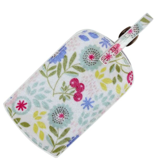 Floral Song PVC Luggage Travel Tag / Label by Gisela Graham * Holiday Gift