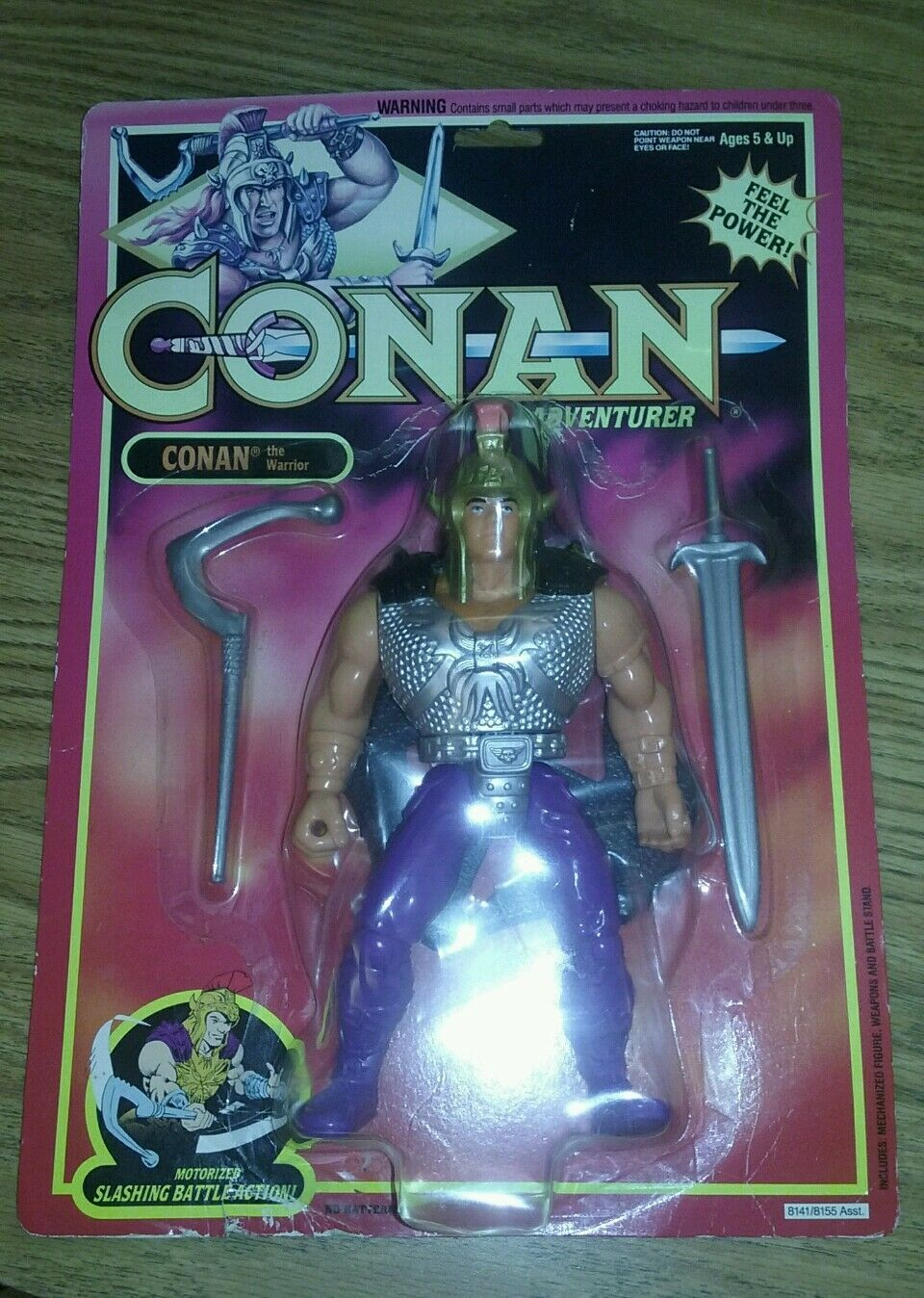CONAN THE ADVENTURER warrior 1992 Motorized slashing battle Action the barbarian