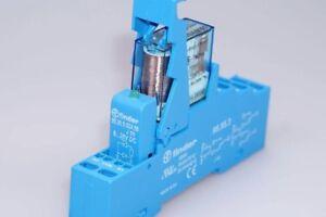 Finder-Relais-40-52-9-024-0000-Finder-Sockel-95-55-3-Freilaufdiode-NEU