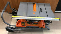 Ridgid (R4513) 15Amp 10'' Table Saw with Stand +warranty $399 Mississauga / Peel Region Toronto (GTA) Preview