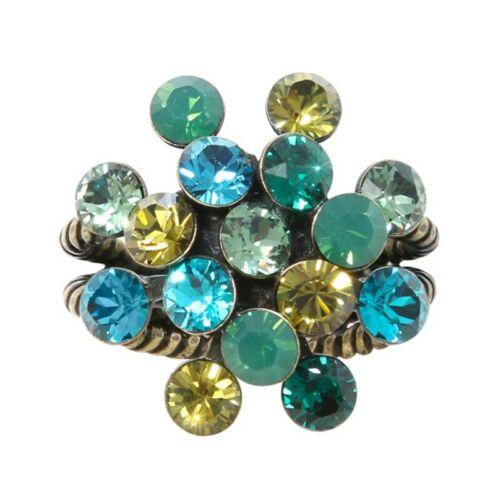 Konplott anillo Magic Fireball multi//verde