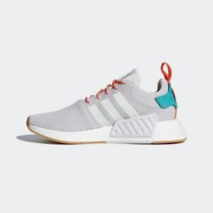 bded387c89c30 ADIDAS ORIGINALS NMD R2 SUMMER CQ3080 CRYSTAL WHITE GREY GUM ORANGE ...