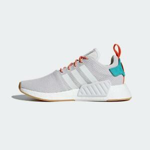 Details about ADIDAS ORIGINALS NMD_R2 SUMMER CQ3080 CRYSTAL WHITEGREYGUMORANGETURQUOISE