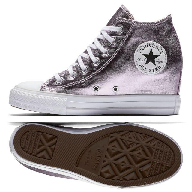 Converse Metallic Chuck Taylor All Star Lux Metallic Converse Mid Top 556779c Purple ... 079aee