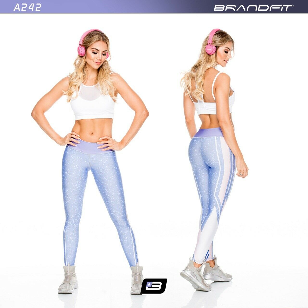 New Woman purple Purple Brandfit Athletic sports  pants Gym Fitness Leggings Fiber