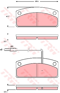 Bremsbelagsatz Scheibenbremse TRW GDB1679