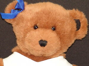 0ad9e8590 ROYAL BLUE WHITE CHEERLEADER UNIFORM BROWN TEDDY BEAR PLUSH STUFFED ...