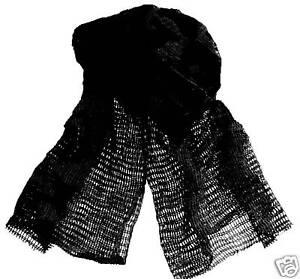 Details about MILITARY SCRIM NET SCARF black cotton SAS face veil Army net  snood neck warmer