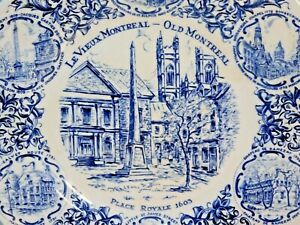 Le-Vieux-Montreal-Old-Montreal-Collector-Plate-by-Wood-amp-Sons-Made-in-England