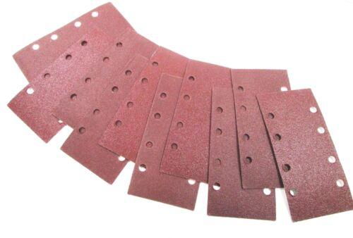 Vewerk Hook//Loop 1//3 Sheet Sanding Sander Sandpaper Pads 50 Pack 80 Grit 8177