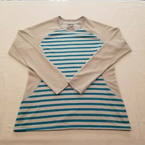 Patagonia Capilene 3 Midweight Crew Long Sleeve Top Blue Striped Mens Size L Ebay