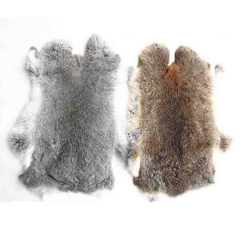 3pc//3 color Genuine Natural Rabbit Fur Skin Tanned Leather Hides Craft Pelt New