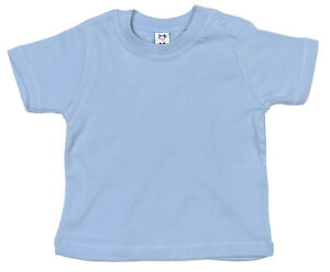 SALE-ITEM-Pack-of-5-Cotton-Baby-T-shirts-Shoulder-Poppers-Blue-18-24-Months