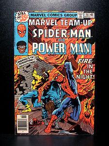 COMICS-Marvel-Team-up-75-1978-1st-Rat-Pack-app-RARE-Spiderman-Power-Man