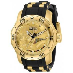 Invicta Men's Watch Star Wars Rotating Bezel TT Black and Gold Tone Strap 32519