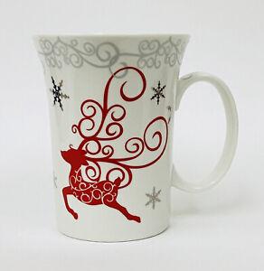 Coastline Imports Twinkle Reindeer Fine Porcelain Christmas Coffee Mug Cup Htf Ebay