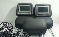 04 MERCEDES Ml350 SPECIAL EDITION HEADRESTS  W/DVD MONITORS OEM BLACK