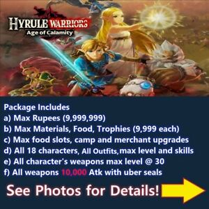Hyrule Warriors Age Of Calamity Switch Cloud Save Edit Service Not A Game Ebay
