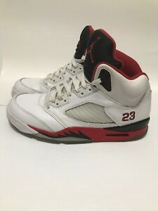 finest selection 5a183 b320b Image is loading 2013-Nike-Air-Jordan-5-Retro-Fire-Red-