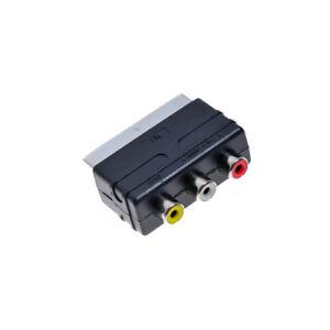 Euro-TV-AV-Scart-Adapter-Chinch-Playstation-PS1-PS2-PS3-XBOX-Nintendo-Stecker