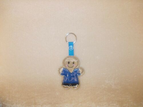 Gingerbread /'Nurse//Carer Royal Uniform/' Keyring//Bag Charm.Embroidered Appliqué