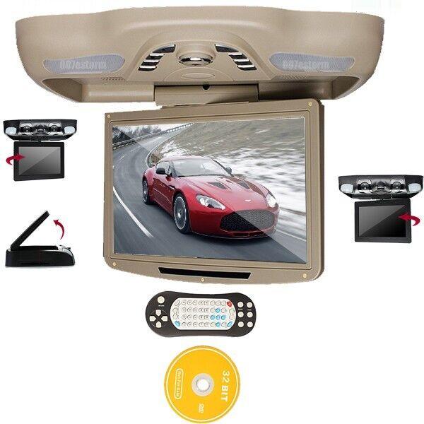 "OUKU 12.1"" HD LCD Car Flip Down Roof Mount CD DVD Media Player TV IR FM Games"