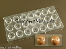 NEW 21cell CHERRY FLOWER Professional POLYCARBONATE Chocolate Mould Mold Candy