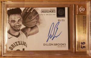 Dillon-Brooks-BGS-9-5-Gem-Mint-10-Auto-On-Card-SP-99-Rookie-RC-2017