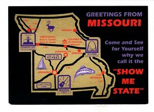Details about Missouri Fun Attractions Map Vintage 4\