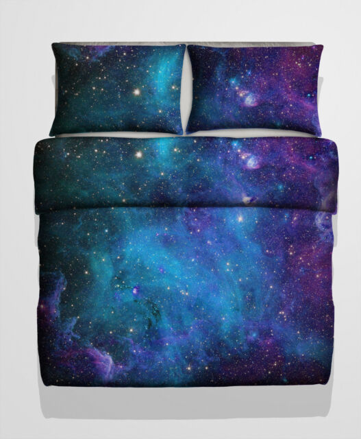 3D Single, Double, King size Galaxy Duvet cover bedding set Nebula Star Cosmos