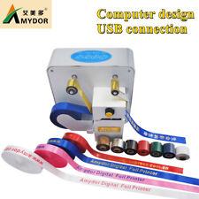 Amd320 Digital Ribbon Foil Printer Gold Foil Printing For Packing Ribbon