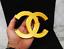 "thumbnail 1 - 6"" Chanel Gold Logo Symbol Sign Luxury - Gold - FREE SHIPPING!"