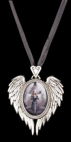 Anne Stokes Medaillon Anhänger Prayer For The Fallen Halskette mit Engel