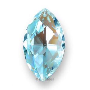 1x-Swarovski-Crystal-Elements-Clear-Ab-Marquis-Pendant-8745-38mm-strass-Logo