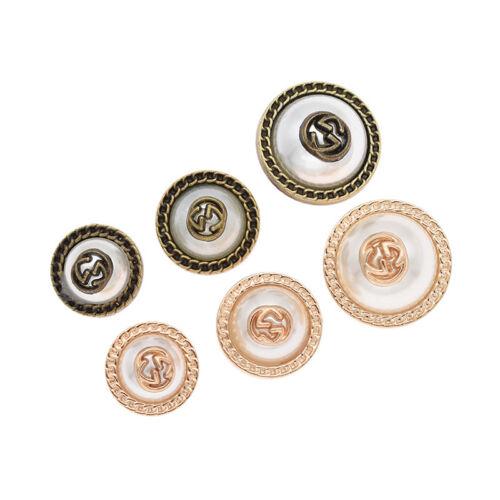 5Pc Mix Taille tige Artificiel Perle Bouton pour À faire soi-même Couture Vêtements Manteau Fournitures
