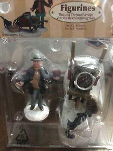 Christmas Village Figurine Lemax Roasted Chestnut Vendor 2 Pc Retired New