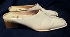 Very Nice ~ **ARA** relax Flex Cream LEATHER Mule Slide Clog, S.8.5 M