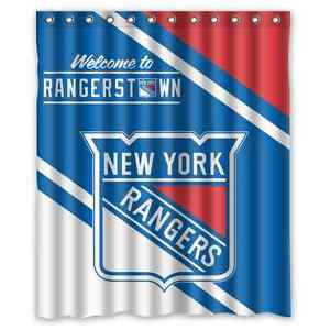 Details About Personalized New York Rangers Hockey Waterproof 60 X 72 Shower Curtain Bath