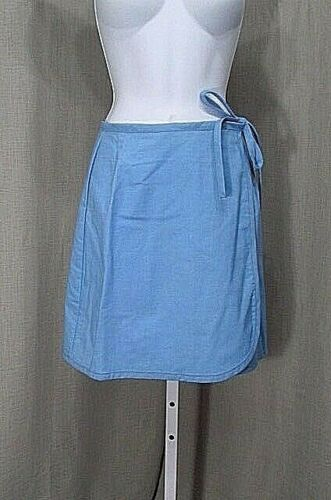 70S WRAP MINI SKIRT DEADSTOCK PALE BLUE POLY/COTTO