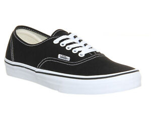 mens vans authentic black and white