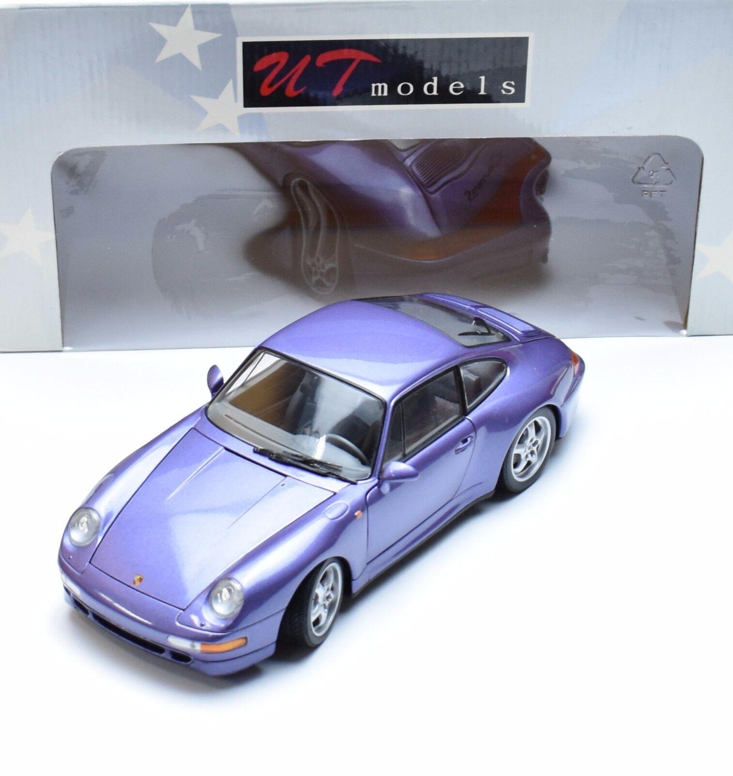 UT voiture de sport PORSCHE 911 CARRERA S Violet Metallic laqué, 1 18, NEUF dans sa boîte, k011