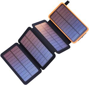 Pealiker Solar Power Bank Cargador portátil solar de 25000mAh con doble USB 2.1A