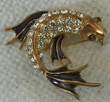 "Rhinestone & Enamel Koi FISH  Pin --2""--Unworn-from an estate--.(D225"