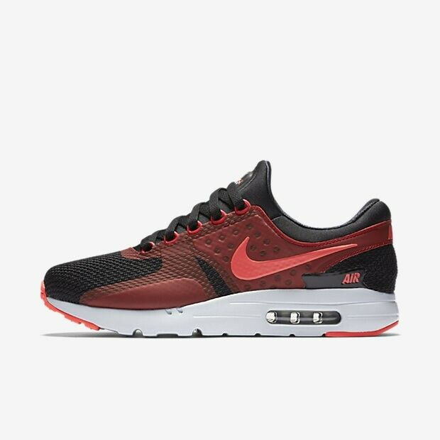 Nike Air Max Zero Essential 876070 007 Black Crimson Red Men's Sportswear Shoes