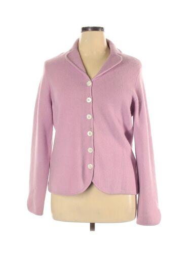 Ann Taylor Lilac Lavender Pink Wool Angora Button