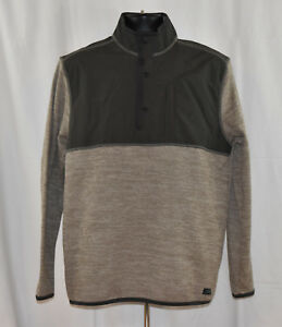 NWT-G-H-Bass-amp-Co-Men-039-s-1-4-Zip-Pullover-Mixed-Media-Jacket-Variety-Avail
