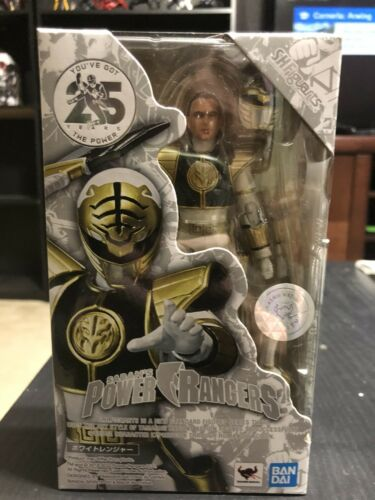 New Bandai Tamashii Nations S.H Figuarts MMPR White Ranger USA